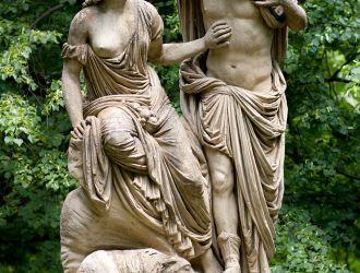 Vertumnus és Pomona szobor a várkertben