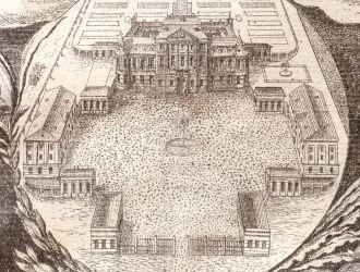 A kastély első ábrázolása egy céhlevélen a 19. század elejéről