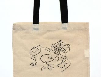 Textil táska kastély design