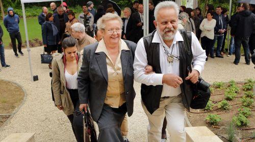 Szinetár Ildikó és Szinetár Csaba a Vadászlak megnyitóján