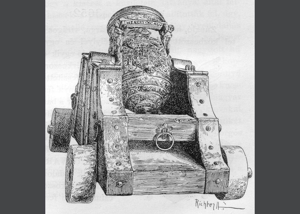 A mozsárágyú modell rajza 1896-ból